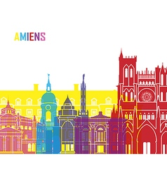 Amiens skyline pop vector image