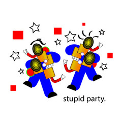 April fools day and stupid party vector