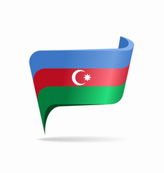 Azerbaijani flag map pointer layout vector