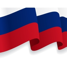 Background with waving Russian Flag vector