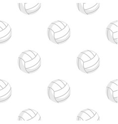Ball for playing volleyball pattern flat vector