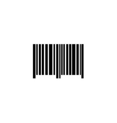 barcode bar code flat icon vector image