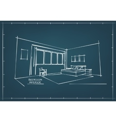 Blueprint Interior Drawing vector image