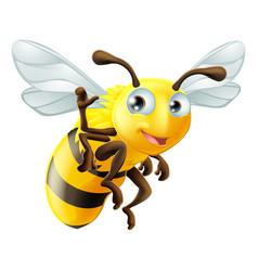 Cartoon bee waving vector