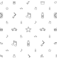 Clipart icons pattern seamless white background vector