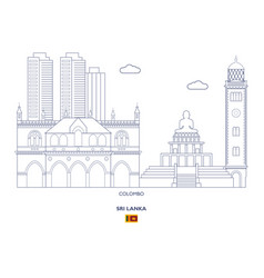 colombo city skyline vector image