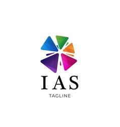 Colorful community association logo design vector
