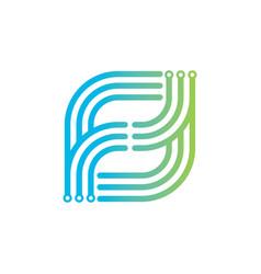 computer technology logo design vector image