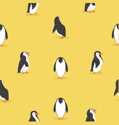 cute penguin characters in different poses vector image