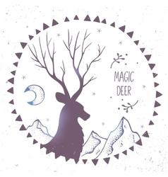 Deer ethnic vector