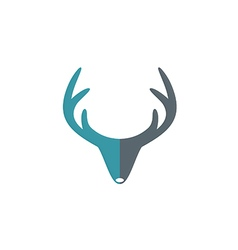 deer horn hunter abstract logo vector image