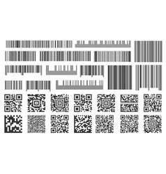 digital barcode supermarket bar labels shop vector image