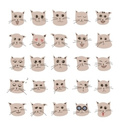 emotions of cute cartoon cat vector image