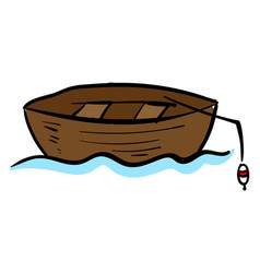 fishing boat on white background vector image