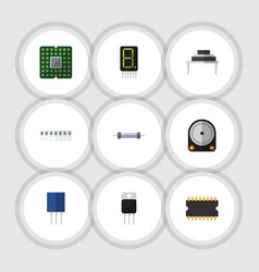 flat icon appliance set of memory hdd vector image