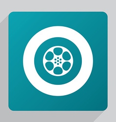 Flat video film icon vector