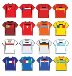 Football shirts vector