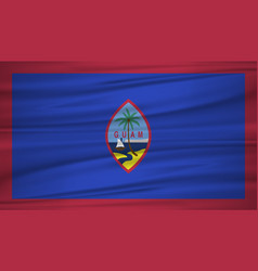 guam flag flag of guam blowig in the wind eps 10 vector image