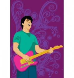 Guitar man vector