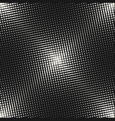 halftone mesh pattern with diagonal crossing lines vector image
