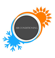 house heating and cooling the sun and snowflake vector image