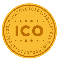 Ico caption digital coin vector