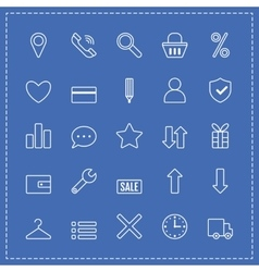 Icons e-Commerce Flat objects shopping symbols vector