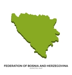 Isometric map of federation of bosnia vector