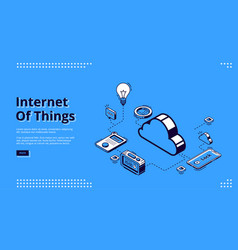 Landing page internet things concept vector