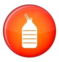 Large bottle of water icon flat style vector