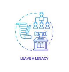 Leave a legacy navy gradient concept icon vector