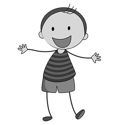 Little boy smiling alone vector image