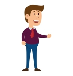 Man character isolated icon vector