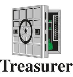 metal bank safe icon vector image