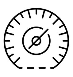 Mile per hour speedometer icon outline style vector