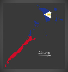 mimaropa map of the philippines with philippine vector image