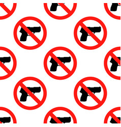 no hunting sign no weapon sign stop vector image
