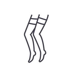 pantyhose line icon sign on vector image