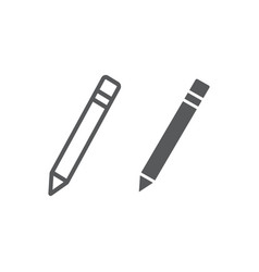 pencil line and glyph icon school and education vector image