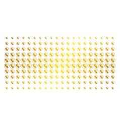 Prenatal gold halftone array vector
