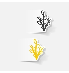 Realistic design element willow vector