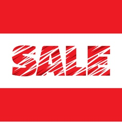 Sale - concept word - banner vector image
