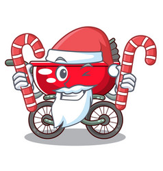 santa with candy modern baby stroller isolated vector image
