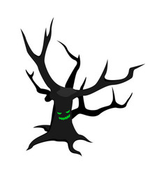 scary tree icon isometric style vector image