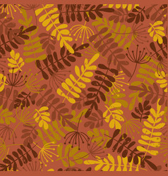 seamless seasonal pattern autumn leaves vector image