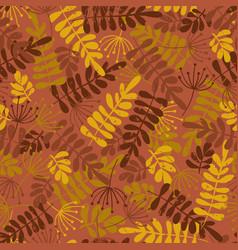 seamless seasonal pattern of autumn leaves vector image