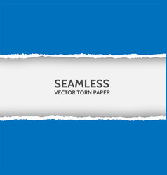 seamless torn paper on white background vector image