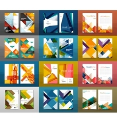 Set a4 size annual report brochure covers vector