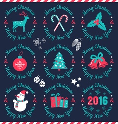 Set christmas banners dark vector