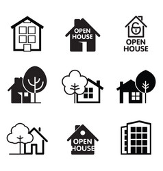 set house icon vector image